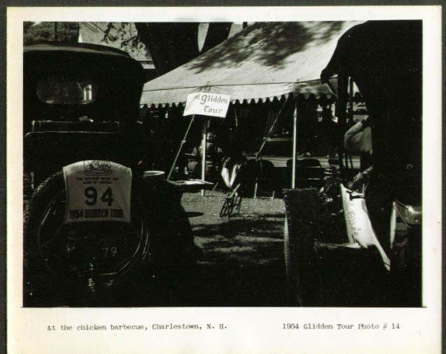 Chicken Barbecue Charlestown NH 4x5 Glidden Tour 1954