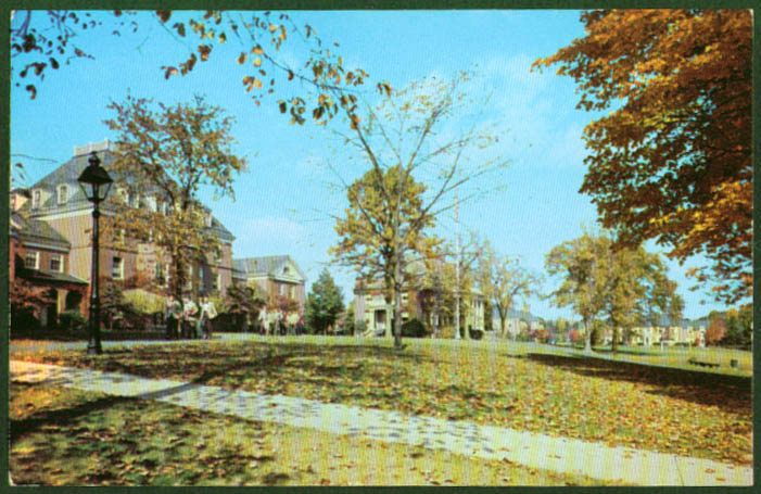 Campus View Choate School Wallingford CT postcard 1950s