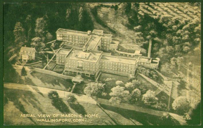 Air View Masonic Home wallingford CT postcard 1943
