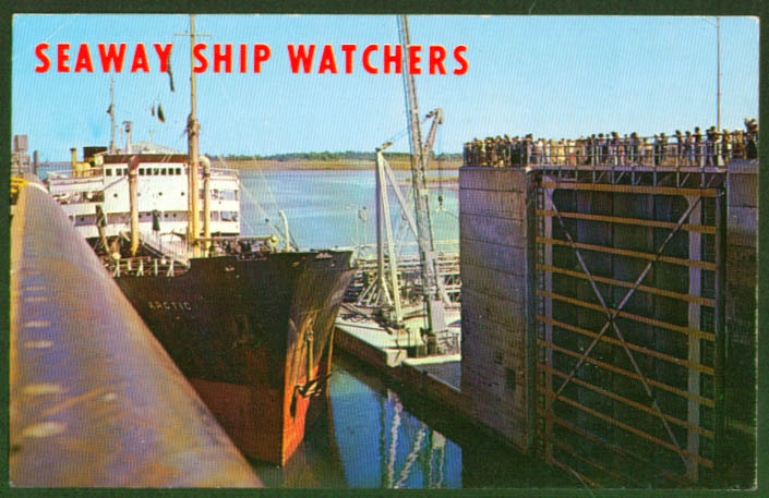 Freighter S S Arctic Eisenhower Lock NY postcard 1950s