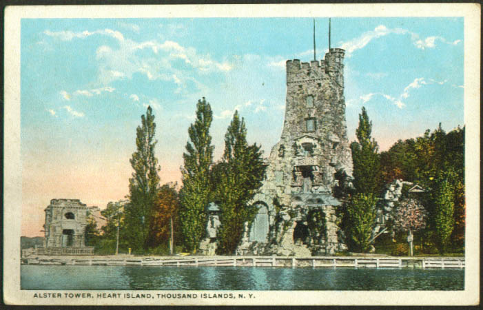 Alster Tower Heart Island Thousand Islands NY postcard