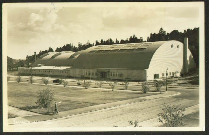 Alvikshallen Stockholm Sweden RPPC 1930s