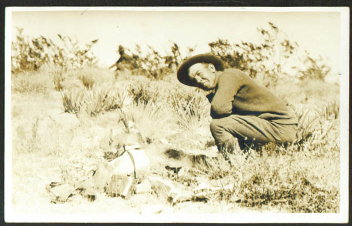 Cooking on bivouac Fort Bliss ? TX RPPC 1910s