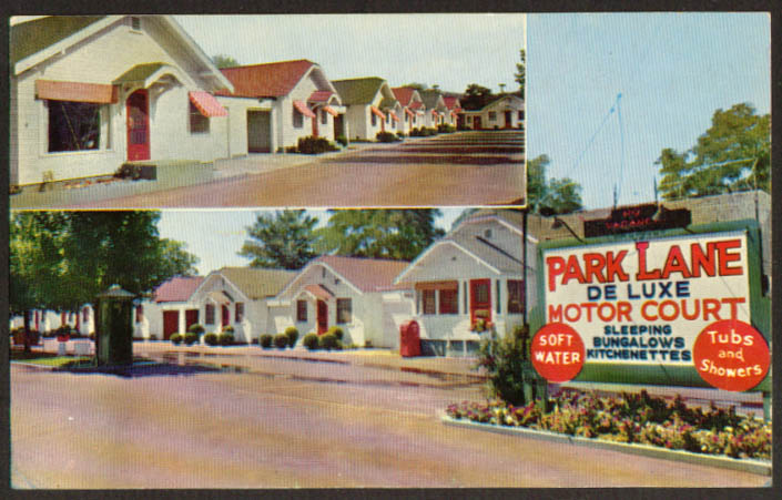 Park Lane Motor Court Spokane WA postcard 1950s