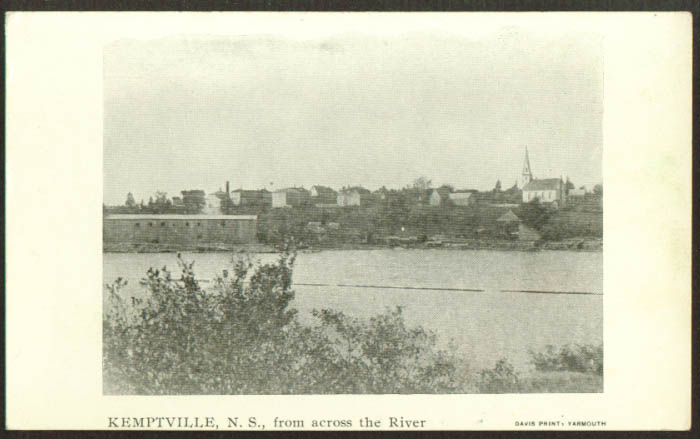 Kemptville NS from across the river postcard 1910s