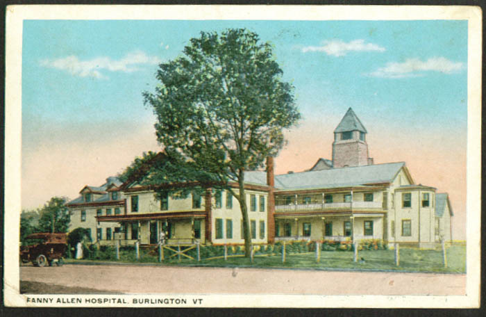 Fanny Allen Hospital Burlington VT postcard 1919
