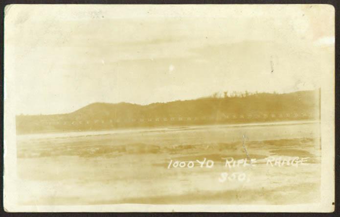 1000-yard Navy Rifle Range Guantanamo Cuba RPPC 1910s