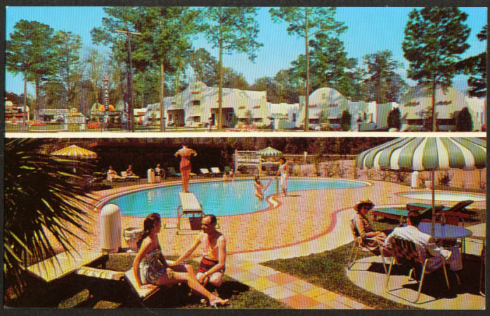 St Francis Motel Courts Mobila AL 2-sided postcard 1950s