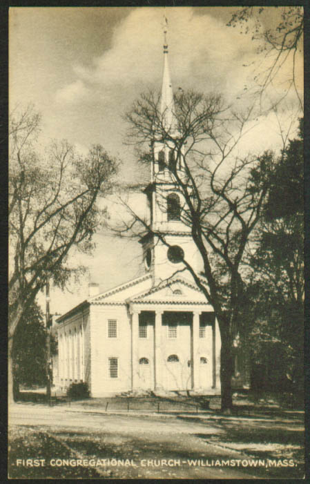 1st Congregational Church Williamstown MA postcard 1920s