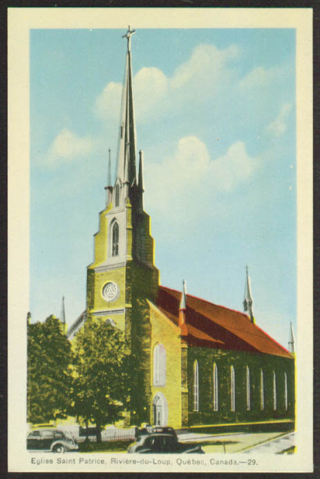 Saint Patrice Riviere-du-Loup Quebec postcard 1930s