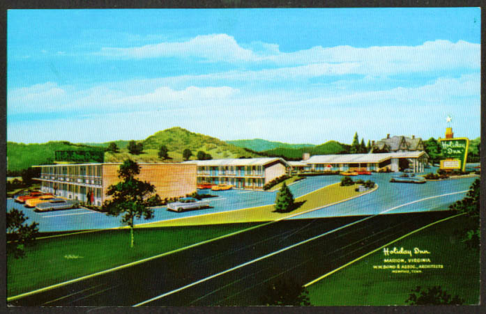 Holiday Inn I-81 US 11 Marion VA postcard 1960s