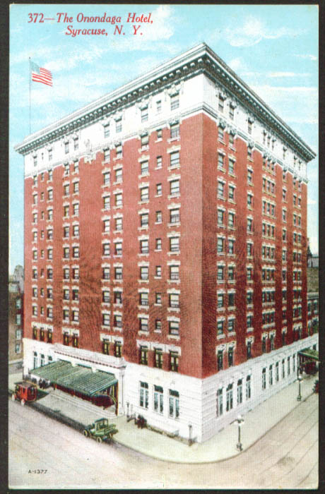 Onondaga Hotel at Syracuse NY postcard 1910s