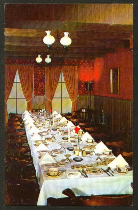 The Canopy Gaslight Room Brighton MI postcard 1950s