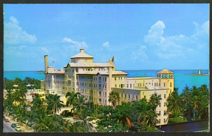 British Colonial Hotel Nassau Bahamas postcard 1959