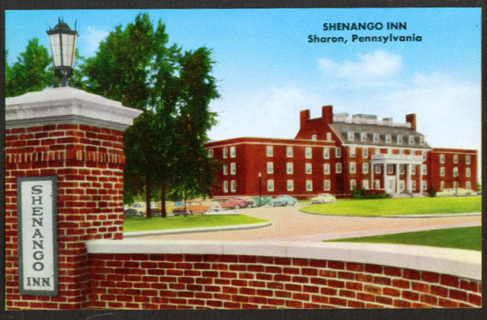 Shenango Inn at Sharon PA postcard 1960