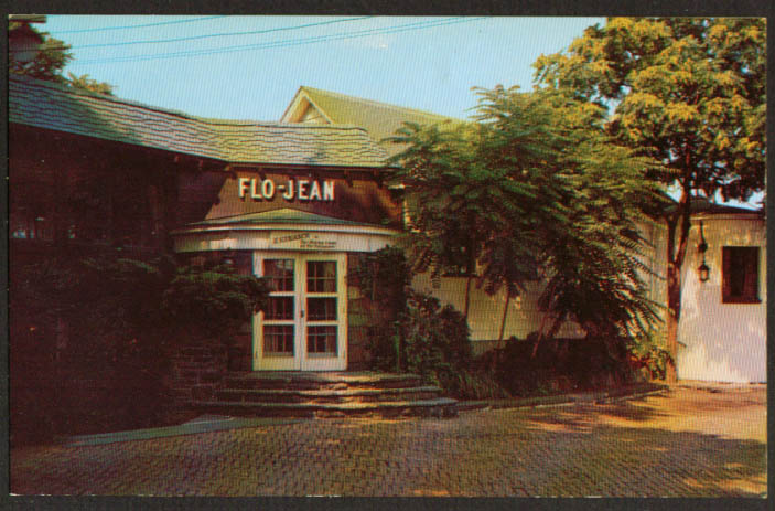 Flo-Jean Dining Room Port Jervis NY postcard 1956