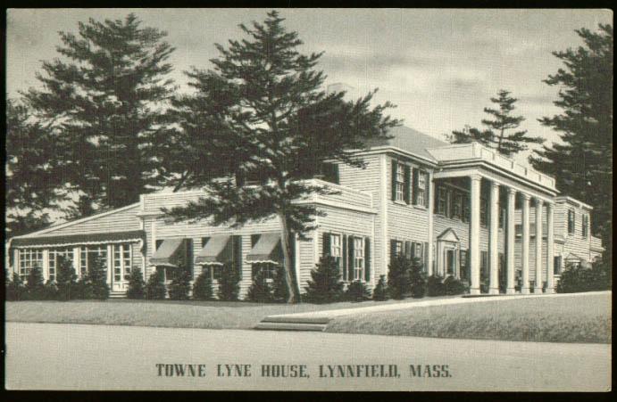 Towne Lyne House Lynnfield MA postcard 1940s