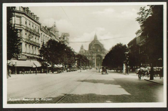 Mille Colonnes Hotel Ave Keikser Antwerp Belgium RPPC