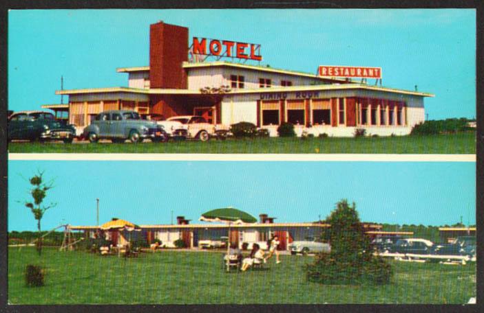 Tourinns Motor Court Kiptopeke Beach VA postcard 1950s