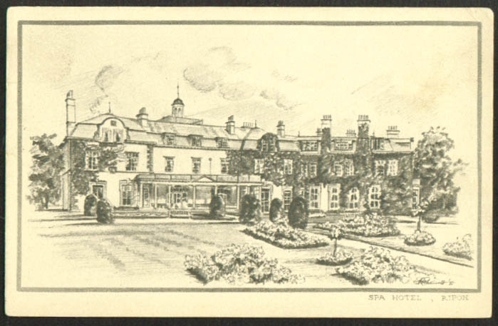 The Spa Hotel at Ripon England postcard 1910s