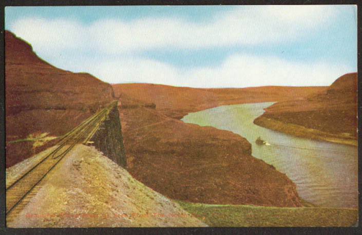 Railroad Trestle & Snake River OR postcard 1910s