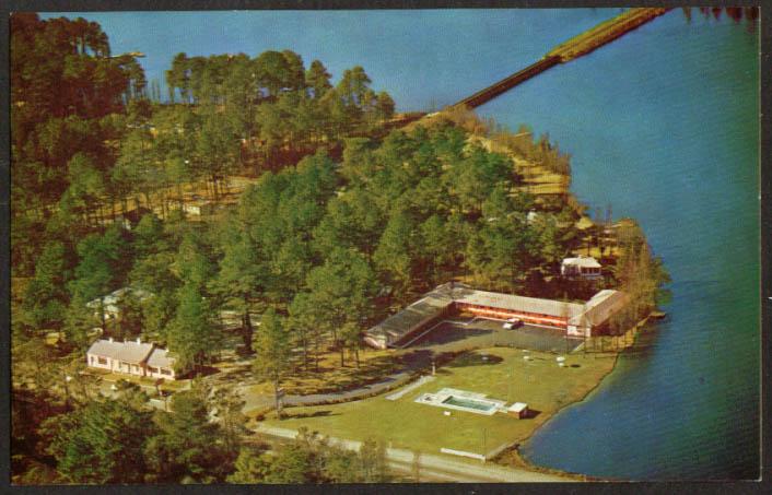 Lakeshore Motor Court US 15 Hartsville SC postcard 1950s