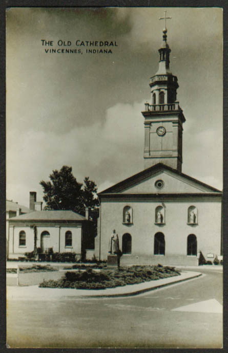The Old Cathedral at Vincennes IN RPPC 1938