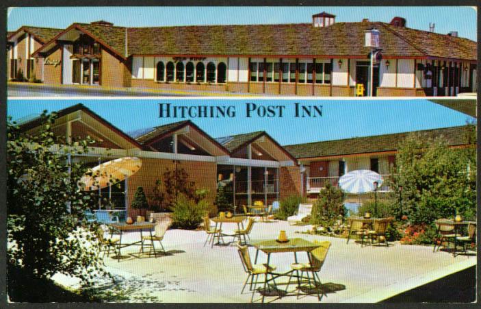 Hitching Post Inn Cheyenne WY 2-view postcard 1960s