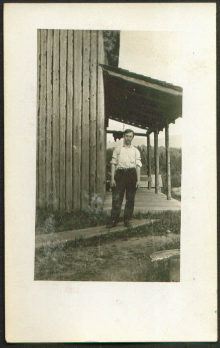 Possibly W H Hall of Glens Falls NY RPPC postcard 1910s