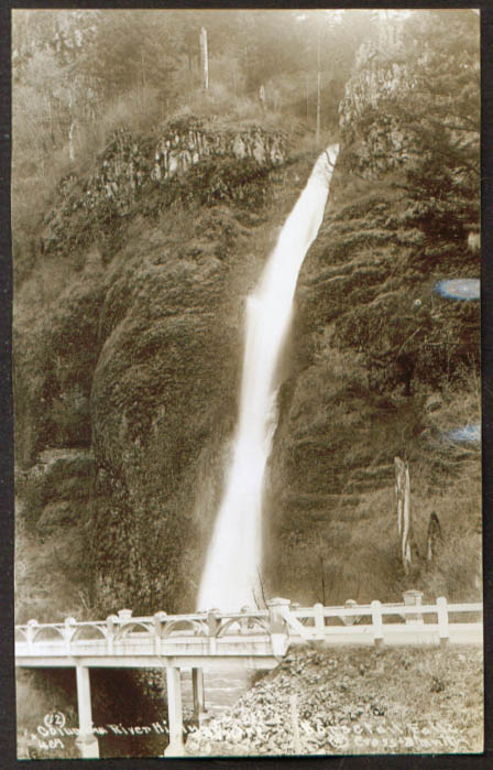 Horsetail Falls Columbia River Highway OR RPPC 1920s