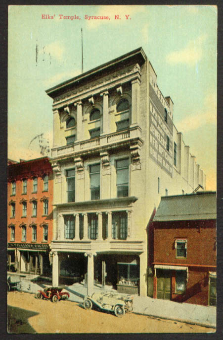 Elks Temple N B Williams Co Syracuse NY postcard 1915