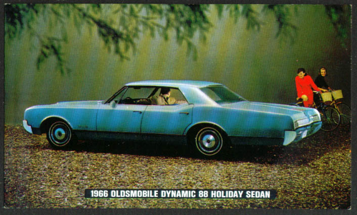 Oldsmobile Dynamic 88 Holiday Sedan postcard 1966