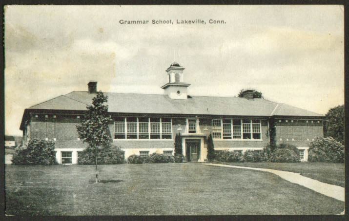 The Grammar School at Lakeville CT postcard 1942