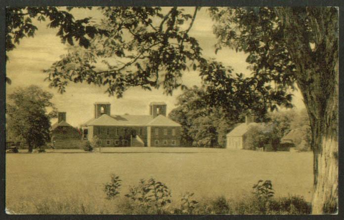 Stratford Hall Westmoreland County VA postcard 1937