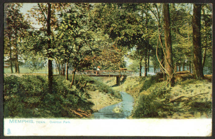 Rustic bridge Overton Park Memphis TN undivided back postcard 1900s
