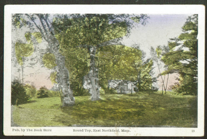 Round Top at East Northfield MA postcard 1910s