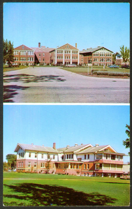 Columbia County Hospital Cushman Home Wyocena WI postcard