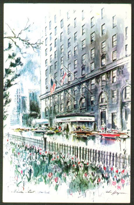 Sheraton-East Hotel 341 Park Av NYC postcard 1960s