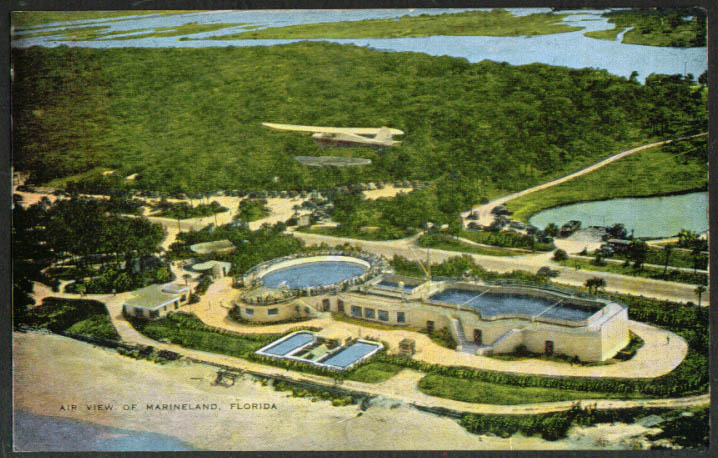 Aerial View of Marneland FL postcard 1940s