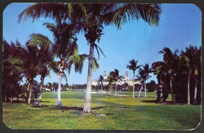 Golf Course Breakers Hotel Palm Beach FL postcard 1952