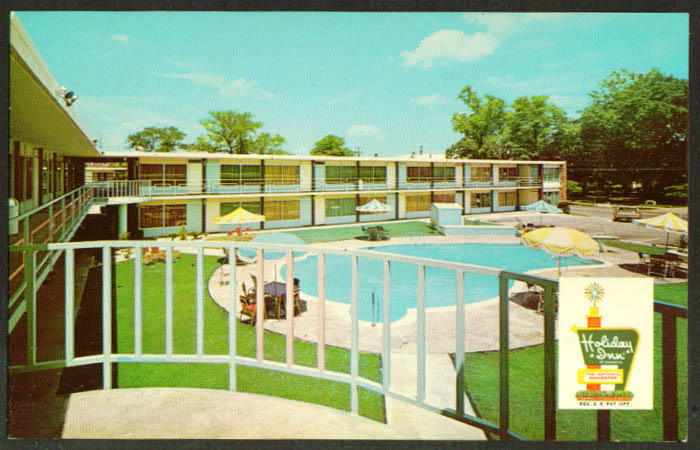 Holiday Inn Downtown Florence SC postcard 1960s