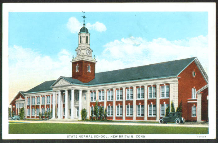 State Normal School New Britain CT postcard 1920s