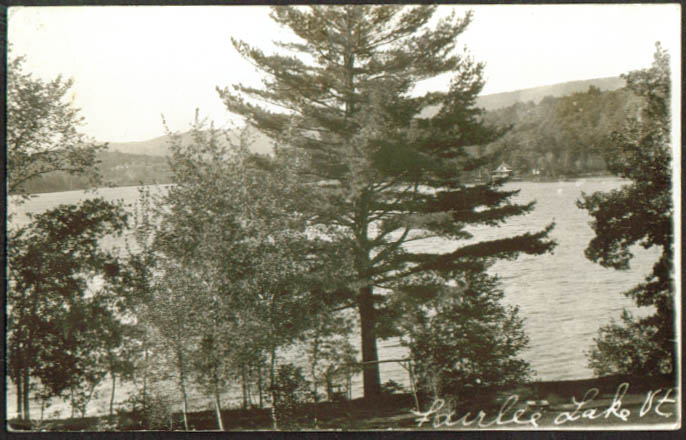 View of Fairlee Lake VT Post Mills PO RPPC 1950