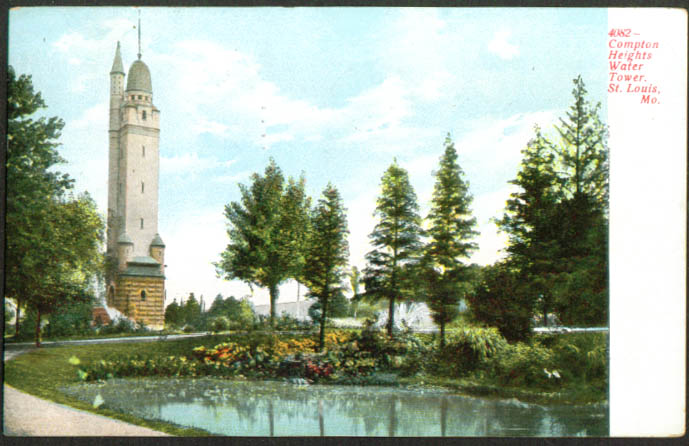 Compton Hts Water Tower St Louis MO postcard 1910