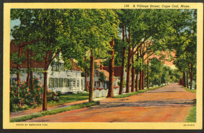 Route 28 Bass River Cape Cod MA postcard 1947