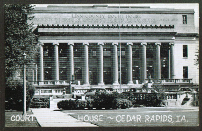 The Court House at Cedar Rapids IA postcard 1930s