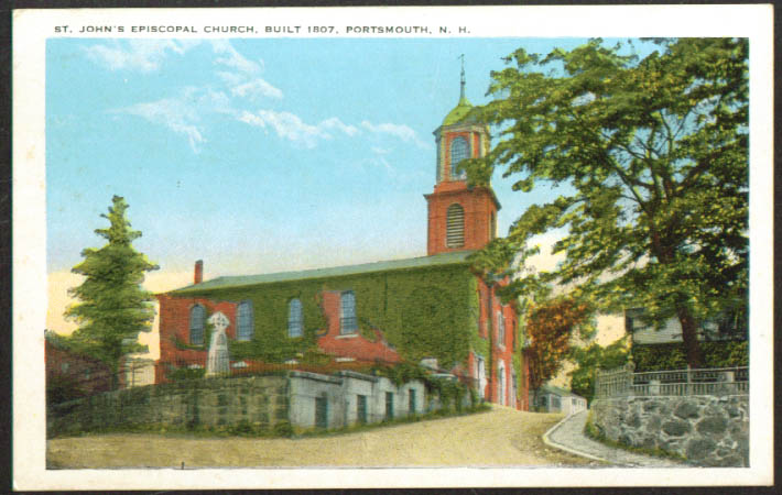 St John's Episcopal Portsmouth NH postcard 1910s