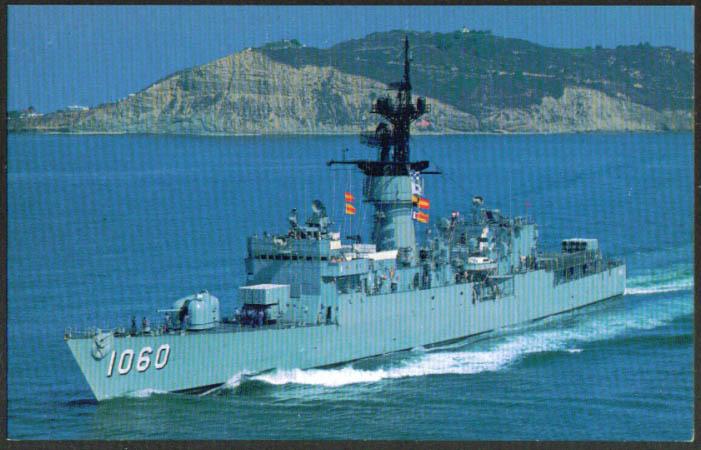 U S S Lang Fast Frigate FF-1060 postcard