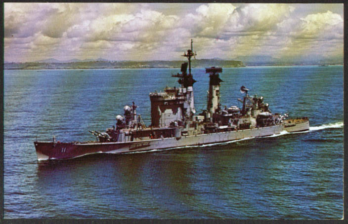 U S S Chicago Guided Missile Cruiser CG-11 postcard