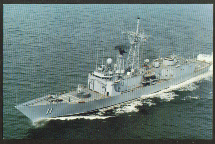 U S S Clark Guided Missile Frigate FFG-11 postcard